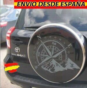 Rosa-De-Vientos-Montanas-Vinilo-Adhesivo-Decal-Coche-4x4-Jeep-Toyota-60x40cm