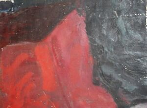 ABSTRACT-VINTAGE-OIL-PAINTING-LANDSCAPE