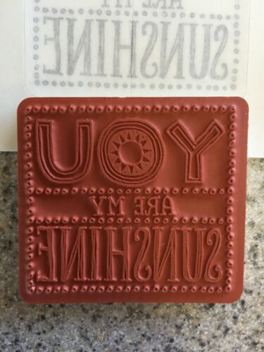 """2 3//8x2 5//8/"""" /""""YOU are my SUNSHINE /"""" Stampin/'UP NEW~Single Stamp~unmounted~Tag"""