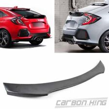 Painted Glossy Black For Honda Civic X 10 Hatchback DTO Rear Trunk Spoiler 17-20