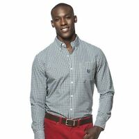 Mens Chaps, R.lauren Classic-fit Gingham-checked Easy Care Shirt R$55teal