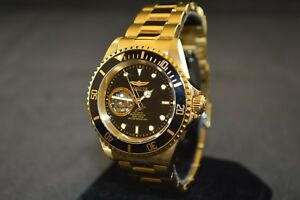 7ed9d5f5d Invicta Pro Diver Automatic Black Dial Gold tone Men's Watch 20436 ...