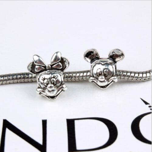 5PCS Silver Plated Big Hole alloy Beads Fit European Charm Bracelet HJ021