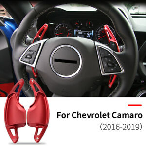 Pair Steering Wheel Shift Paddle Shifter Extension Fits 2019-up Kia Stinger Red