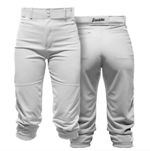 Franklin Sports Youth Deluxe Baseball Pants - White NWT
