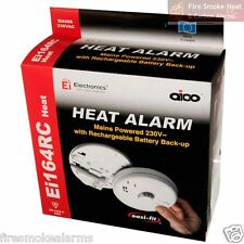 AICO EI164RC Professional Mains Lithium Battery Kitchen Garage FIRE HEAT ALARM