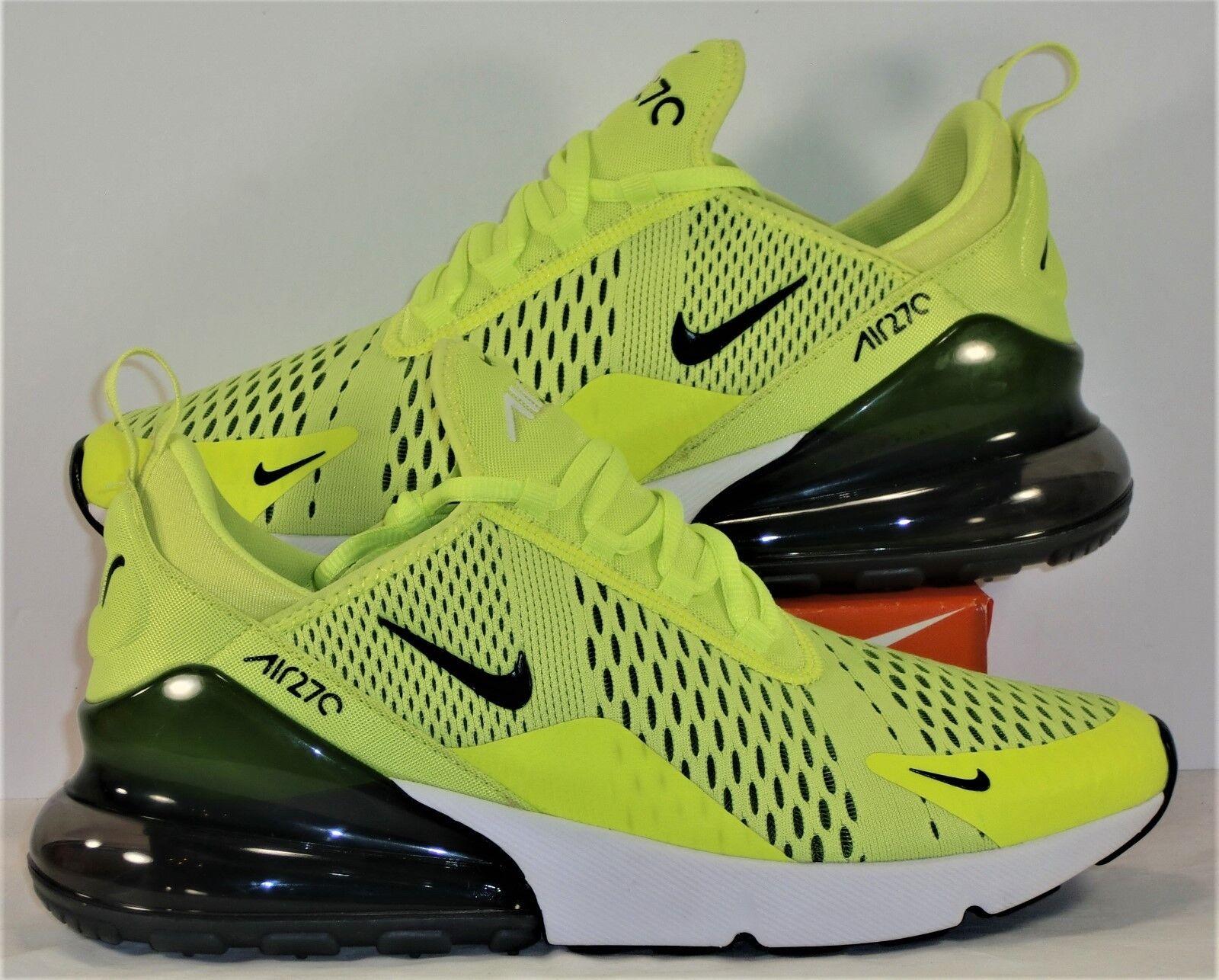 Nike Air Max 270 Black & Volt & White Mens Running shoes Sz 9 NEW AH8050 701