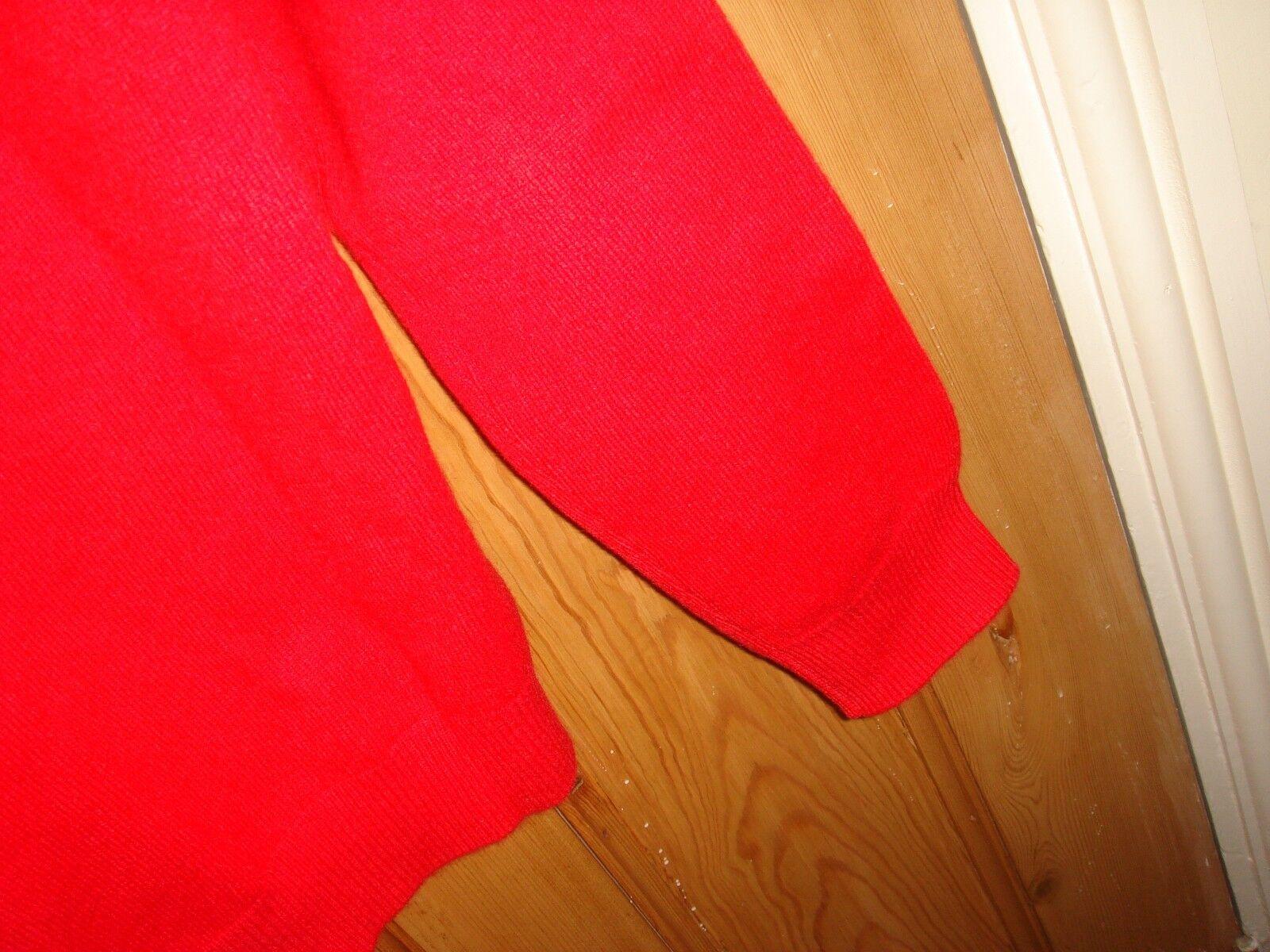 Eric bompard designer pure cashmere cashmere cashmere sweater jumper mens brand new red medium 312daf