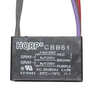 HQRP-Motor-Condensador-CBB61-4-5uf-6uf-8uf-5-Wire-para-Harbor-Brisa-Techo-Fans