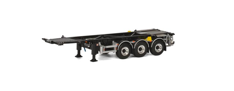WSI 03-1148 échelle 1 50 Container Châssis pour Swop body 3 essieu (Noir)