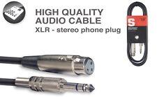 Deluxe Audiokabel - Fr. XLR/Stereoklinke, 3m, B7-