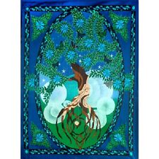 """Tree of Life Man Tapestry 52 x 76"""" Wiccan Pagan Altar Supply Decor 57471"""