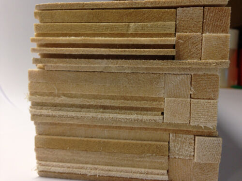 "Balsa Wood Giant Bundle /""SPECIAL OFFER/"" 450 x100 x100mm Mixed Sizes Tracked Post"