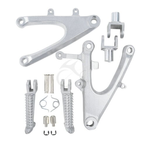 Front Rider Repose-pied Foot pegs Support Set pour Yamaha YZF R1 2004-2006 2005