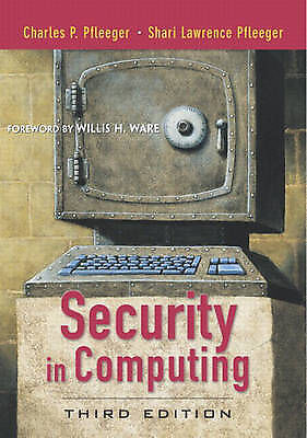 1 of 1 - Security in Computing by Charles P. Pfleeger, Shari Lawrence Pfleeger (Hardback…