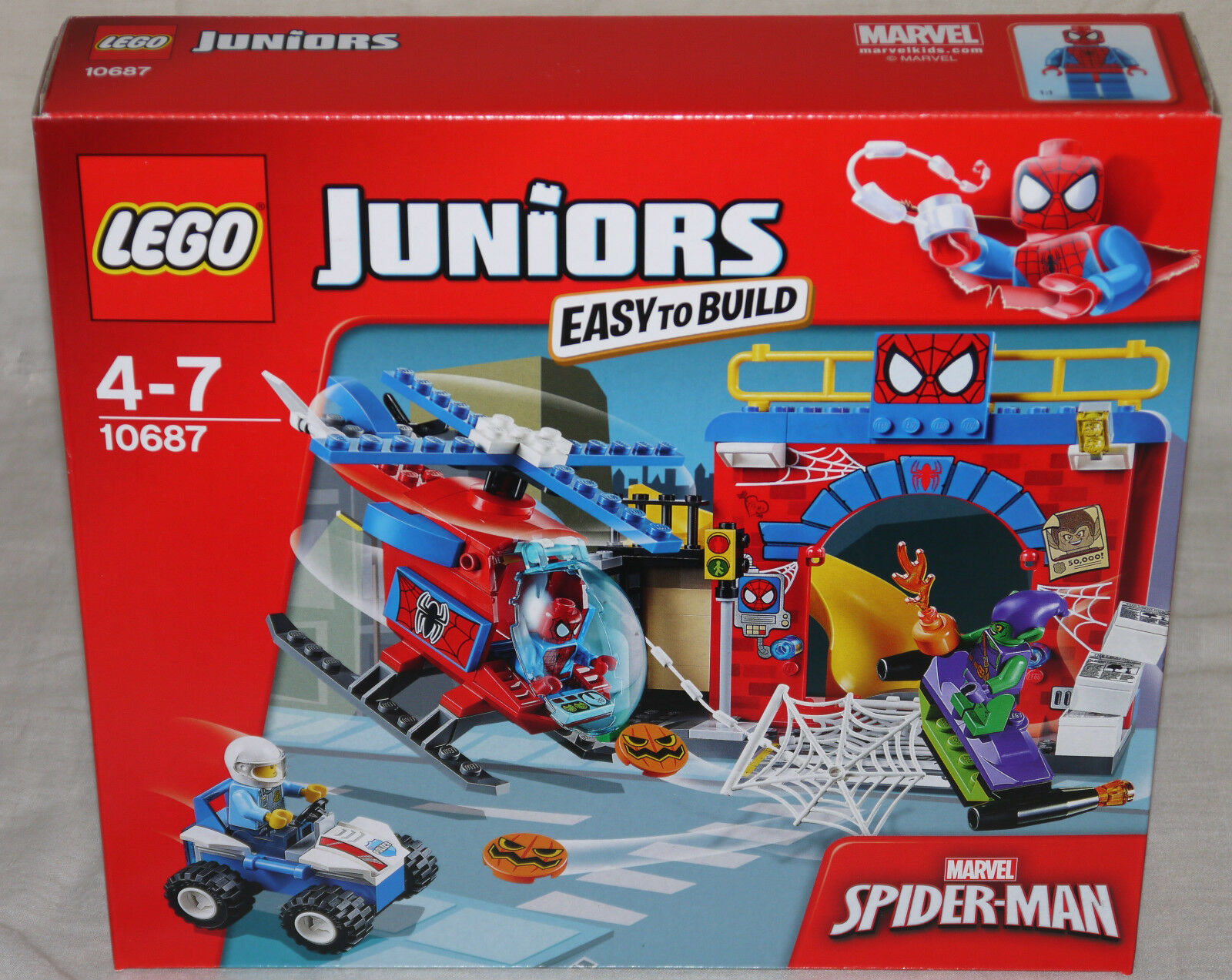 LEGO 10687   SPIDER-MAN nascondiglio-per ragazzi Nuovo di zecca     facile da costruire