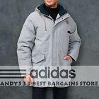 Adidas Winter Jacket Men Warm Winter Coat Hooded Down Parka Alaska Snow Top L XL