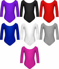 06b619d4c5b7 Girls Lycra Stretch Leotards Kids School PE Ballet Dance Gymnastics ...