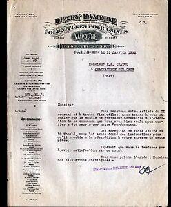 PARIS-XI-FOURNITURES-pour-USINES-VALVOLINE-034-Henry-HAMELLE-034-en-1952