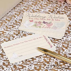 Details Sur Avec Amour Mariage Voeux Conseils Cartes Livre D Or Alternative Vintage Shabby Chic Afficher Le Titre D Origine