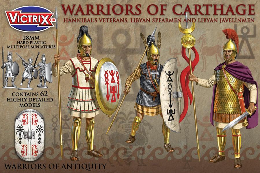 28mm Krieger Of Carthage - Victrix - Karthagische Krieger Ahnen