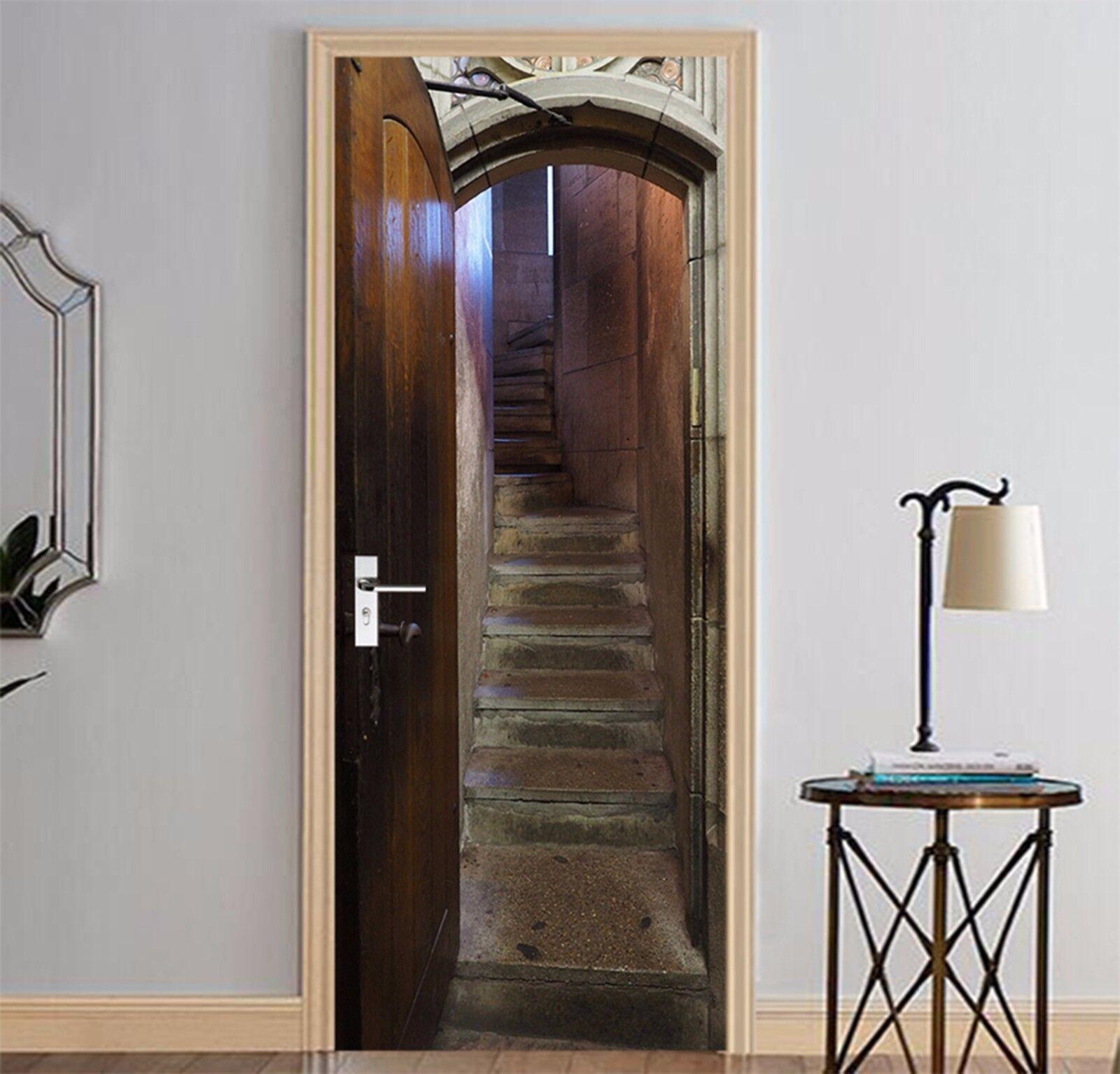 3D Steintreppen 763 Tür Wandmalerei Wandaufkleber Aufkleber AJ WALLPAPER DE Kyra