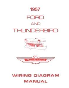FORD 1957 Custom, Fairlaine & Thunderbird Wiring Diagram ...