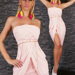 Hot Rosa Bandeau Kleid Free Shipping 1566c 1d702