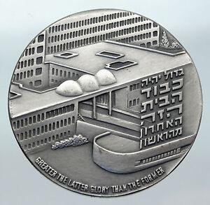 1975 ISRAEL Large Medical HADASSAH UNIVERSITY HOSPITAL Old Silver Medal i85585