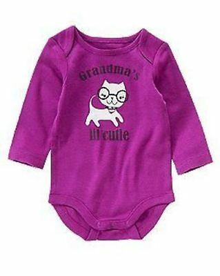 NWT Size 3-6 CRAZY 8 Purple Kitty GRANDMA/'S LIL CUTIE Bodysuit 1 Piece Top