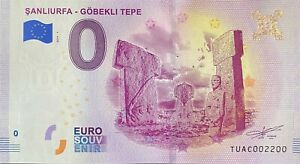 BILLET-0-EURO-SANLIURFA-GOBEKLI-TEPE-TURQUIE-2019-NUMERO-2200