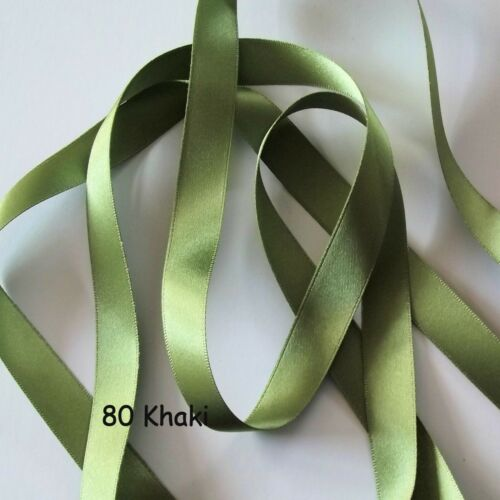 R14 Shades 78 to 405 Berisfords Ribbon Double Satin Ribbon 15mm wide Ribbon