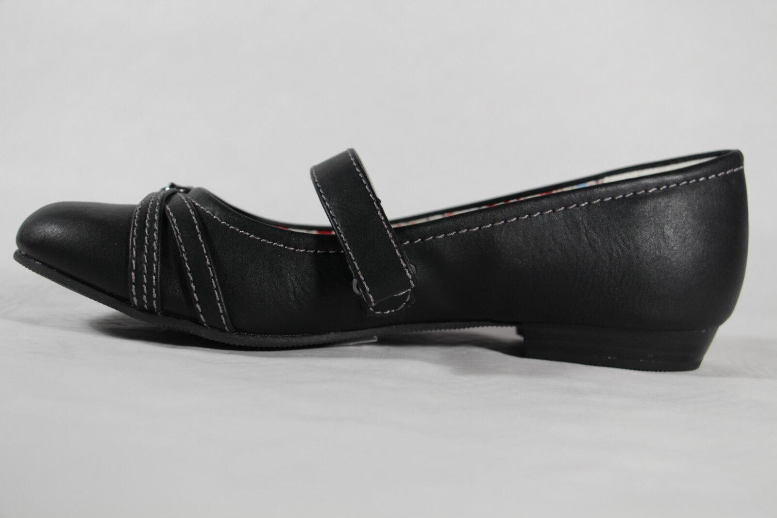 Tiempo limitado especial s. Oliver Zapatillas de Bailarina Negro Suela Interior de cuero NUEVO
