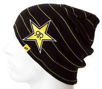 Rockstar Energy Drink Men's One Industries Stripes Beanie - Black
