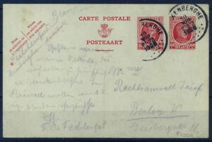 Belgio-1926-Mi-P105-A-Intero-postale-100-Usato-40-C-Berlin