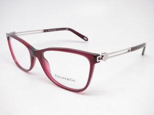 6092dc5296b8 New Authentic Tiffany & Co TF 2151 8003 Opal Dark Cherry Eyeglasses ...
