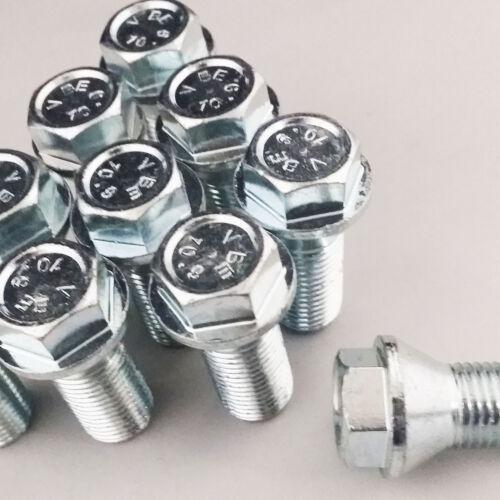 Pernos de 16 para los adaptadores de Rueda Perno en M12x1.5 26mm 17mm hexagonal de cabeza de rosca superficial