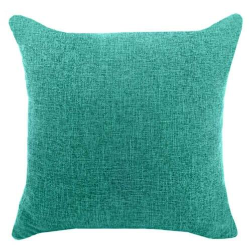 Plain Color Pillow Case Linen Cotton Cushion Cover Home Office Sofa Car Decor