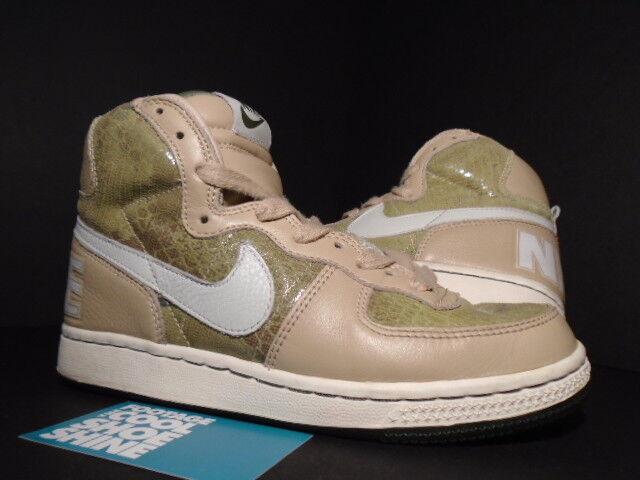 Women 2005 Nike Dunk TERMINATOR HI PREMIUM SNAKE SKIN LINEN SPLASH SAFARI 4 5.5