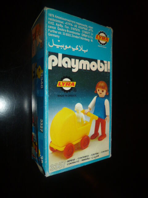 VINTAGE RARE GREEK PLAYMOBIL SET 3357 BY LYRA 1978 MISB