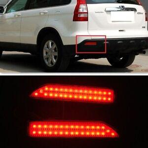 For Honda Crv Cr V 2007 2008 2009 Red Lens Led Rear Bumper