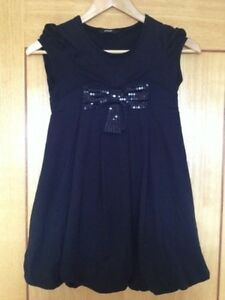 Fab-Black-George-Party-Dress-Age-9-10-Matching-Cardigan-Also-For-Sale