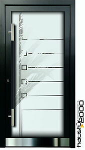 aluminium haust r glas t r alu haust ren nach ma mod ht 5483 gla nach ma ebay. Black Bedroom Furniture Sets. Home Design Ideas