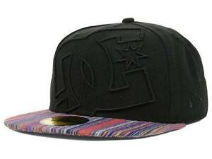 3bf06165 DC Shoes Coverage II NE New Era 59Fifty Mens Black Multi Fitted Hat ...
