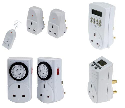 Wickes électronique/Mécanique Minuteur Prise, secteur Télécommande Socket Set