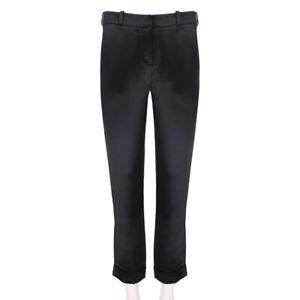 Balmain-Black-Satin-Trousers-Pants-UK10-FR38