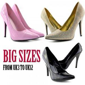 Mens Womens Drag Queen Crossdresser High Heel Pointed Court Shoes