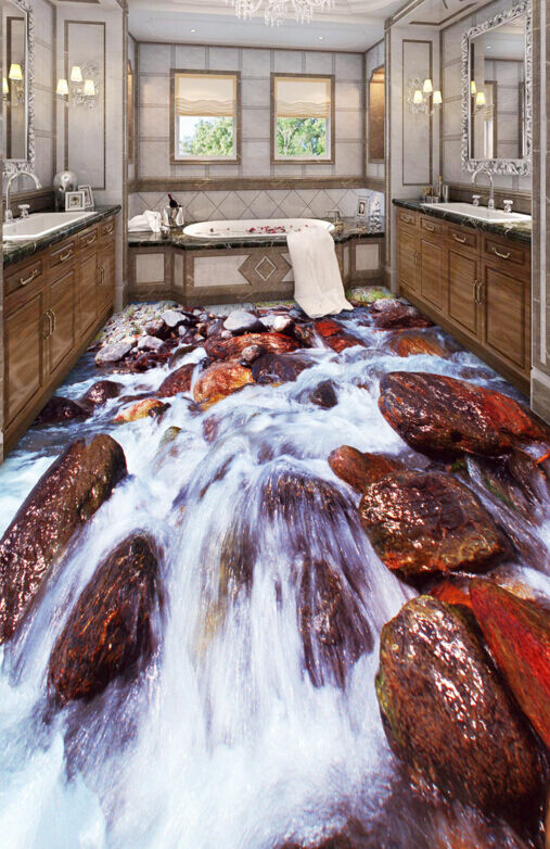 3D Fluvial Murale 16 Fond d'écran étage Peint en Autocollant Murale Fluvial Plafond Chambre Art 222051