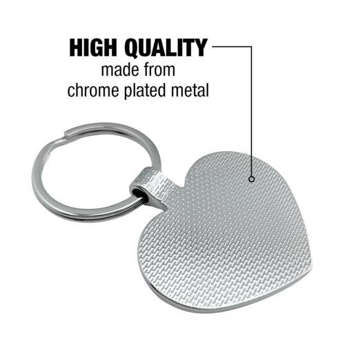 Snow Leopard on Ledge Heart Love Metal Keychain Key Chain Ring