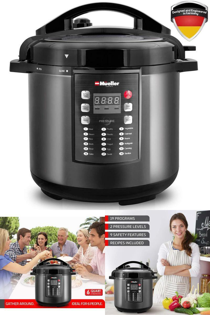 New MUELLER Pressure Cooker 10-in-1 Pro Series 19 Program 6Q Rice Cooker